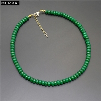 MLA Classic Vintage Handmade Natural Emeralds Beaded Necklaces Chain Length 45cm 1 Pcs