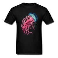 Klasik Yaka Mens Eski Bant T-Shirt denizanası Takım Için Lüks Özelleştirilmiş dijital baskı dizi kendi Mens Gömlek Creat