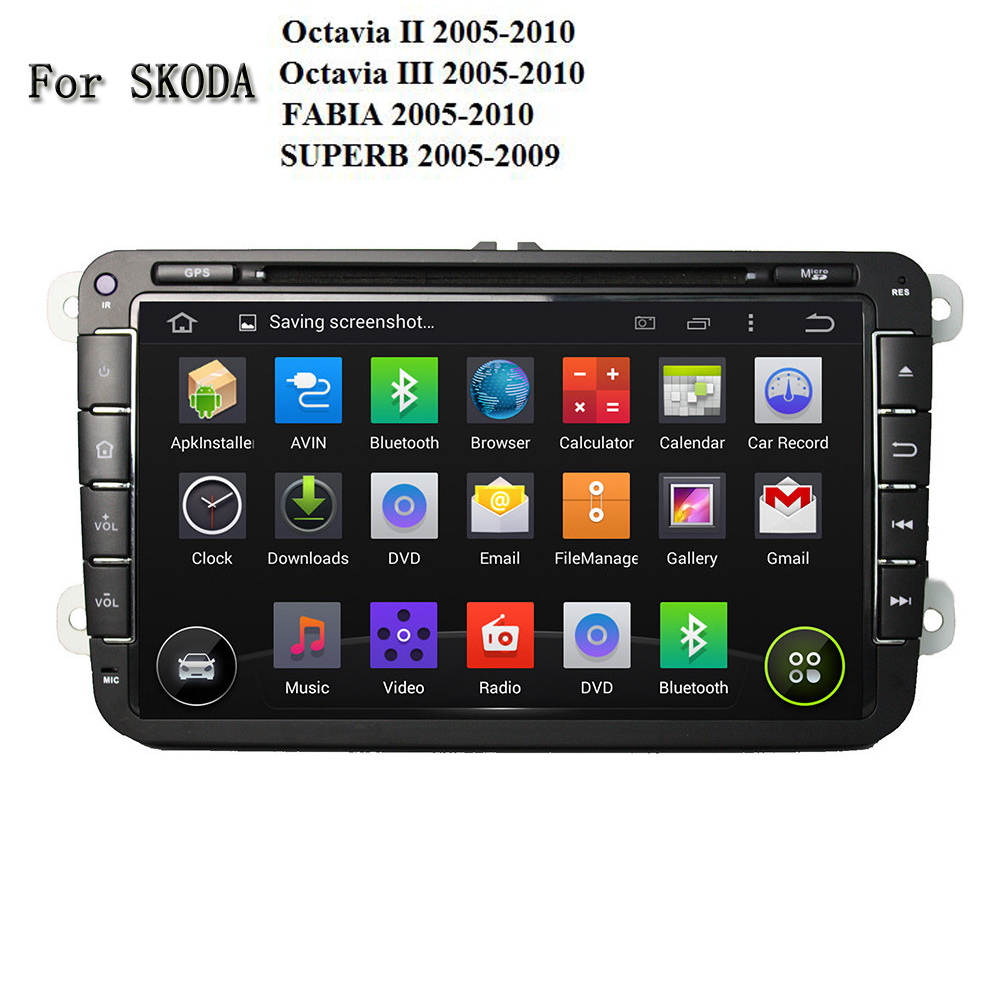 1GB RAM Android 5.1 Car DVD Multimedia Player For Skoda Octavia / FABIA / SUPERB 2005-2010 Universal 2 Din PC With Mirror link