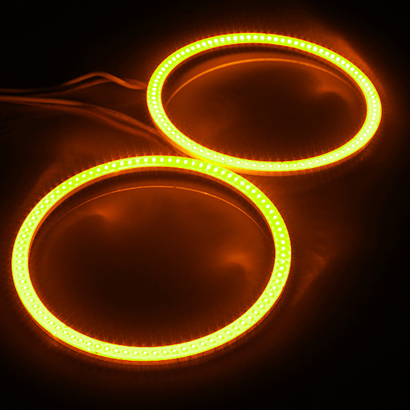 2 db (1 pár) automatikus halogó gyűrűk COB 70MM Angel Eye 12V 24V - Autó világítás - Fénykép 6