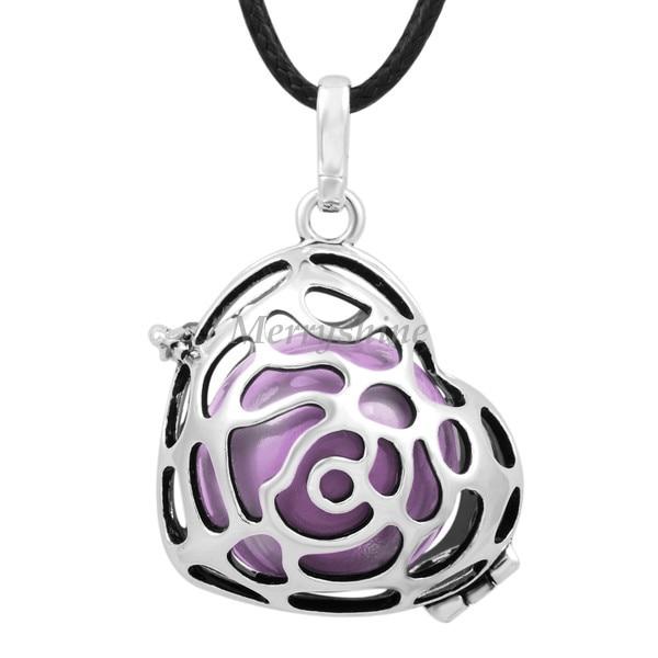 Aliexpress buy mexican bola rose cage heart shape pendant mexican bola rose cage heart shape pendant angel caller pendants necklace eudora harmony ball aloadofball Images
