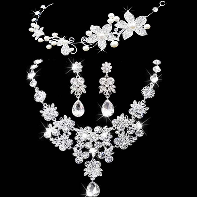 Bridal jewelry crown necklace and earring set tiara rhinestone bridal jewelry crown necklace and earring set tiara rhinestone wedding accessories bridal crystal jewelry sets in bridal jewelry sets from jewelry junglespirit Choice Image