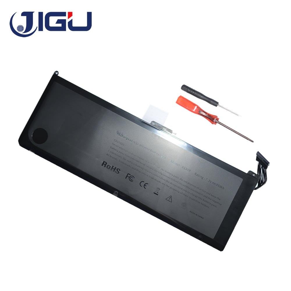 JIGU 95WH 7.3 V pour batterie d'ordinateur portable Apple A1309 pour MacBook Pro 17