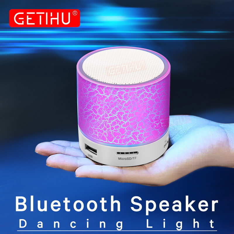 Mini Wireless Bluetooth Speaker For iPhone Samsung Computer Portable Stereo Music Speaker Supported Mic TF USB FM Volume Control getihu portable mini bluetooth speakers wireless hands free led speaker tf usb fm sound music for iphone x samsung mobile phone