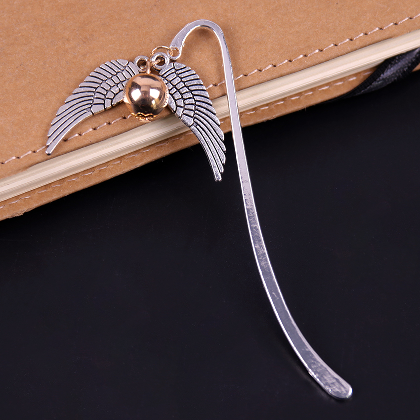 1PC Snitch Thief Wings Ball Metal Bookmark Retro Charm Metal Bookmark Best Gift For Reader Stationery
