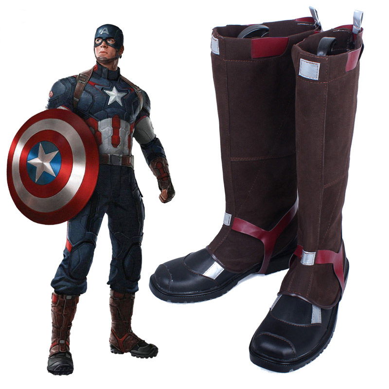 US $51 92 20% OFF|Captain America 3: Civil War Steve Rogers Cosplay Shoes  Combat Boots Unisex Customized Free Shipping-in Shoes from Novelty &  Special