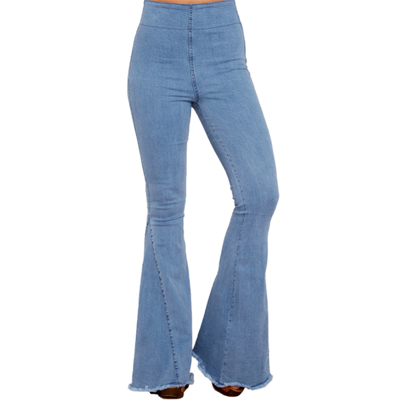 watch fashion style classic style of 2019 US $26.99 25% OFF|Fashion Super High Waist Wide Leg Flare Jeans for Women  Cute Ladies High Waisted Bell Bottom Jeans Denim Pants Plus Size-in Jeans  ...