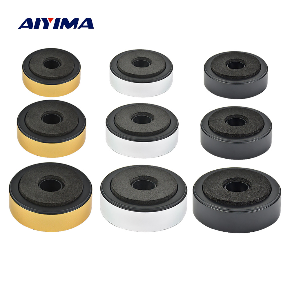 AIYIMA 4Pcs Speaker Spikes Stand Feets Audio Active Speakers Repair Parts Accessories DIY For Home Theater Sound System