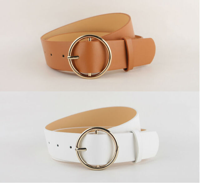 Newest Hot Sale fashion gold Buckle Female Leather Strap Belts for Women Ms. clothing Cummerbunds Ladies Fashion Girdles gifts 3