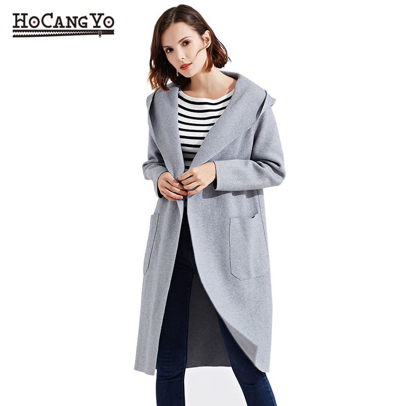 Long Sweaters Cardigans Oversized Coats Warm Winter Women Thick Full Hooded