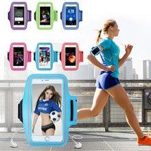 Спортивная Беговая чехол для iPhone 6 6 S 7 8 Plus 4S 5 5S 5C SE чехол из искусственной кожи моющаяся Jog Спортивная нарукавная повязка для зала чехол для телефона