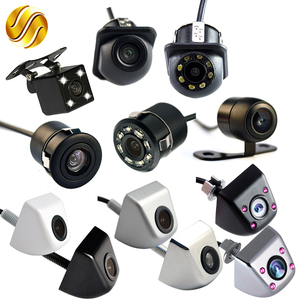 цены Car Rear View Camera 170 Degree Auto Reversing Parking Monitor 4 LED Night Vision CCD Infrared Waterproof HD Video