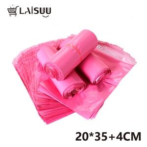Image 4 - 100pcs 7.8*13.7inch/20*35cm Girl Pink Thick Waterproof Self Adhesive Bag poly envelope gift mailing bag