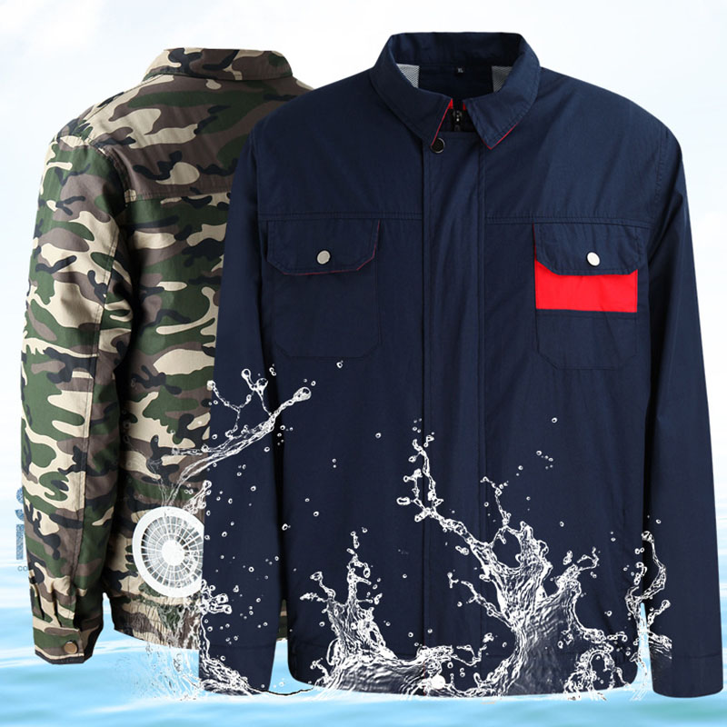 Search For Flights Camo/grey Air Conditioning Clothes Summer Cooling Conditioned Fan Anti-heatstroke Protection Jacket Electric Workshop Overalls Street Price Workplace Safety Supplies Security & Protection