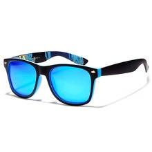 Классические солнцезащитные очки с разноцветными зеркальными