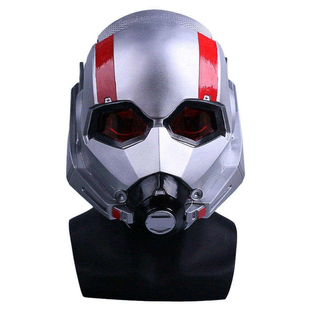 Film fourmi-homme et la guêpe masque Cosplay Antman casque PVC Scott Edward casques masques nouveau Halloween fête prop haute qualité