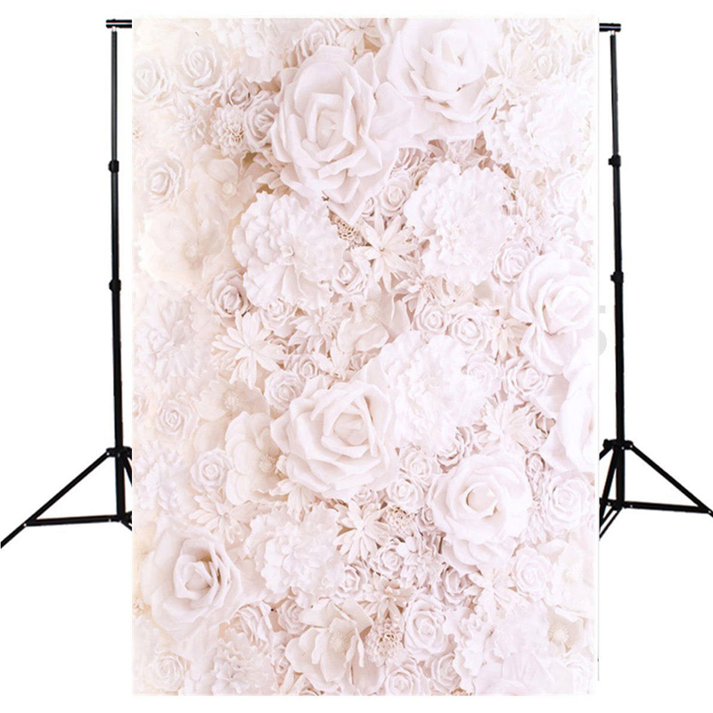 Mayitr 5x7ft Flower Wall Backdrop Vinyl Baby Photography Background For Studio Photo Props mayitr 5x7ft magic dark blue mysterious photography background vinyl high quality backdrop for studio photo props
