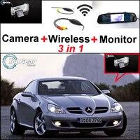 For Mercedes Benz MB SLK350 SLK320 SLK300 SLK280 SLK230 Special WiFi Camera + Wireless Receiver + Mirror Monitor Parking System