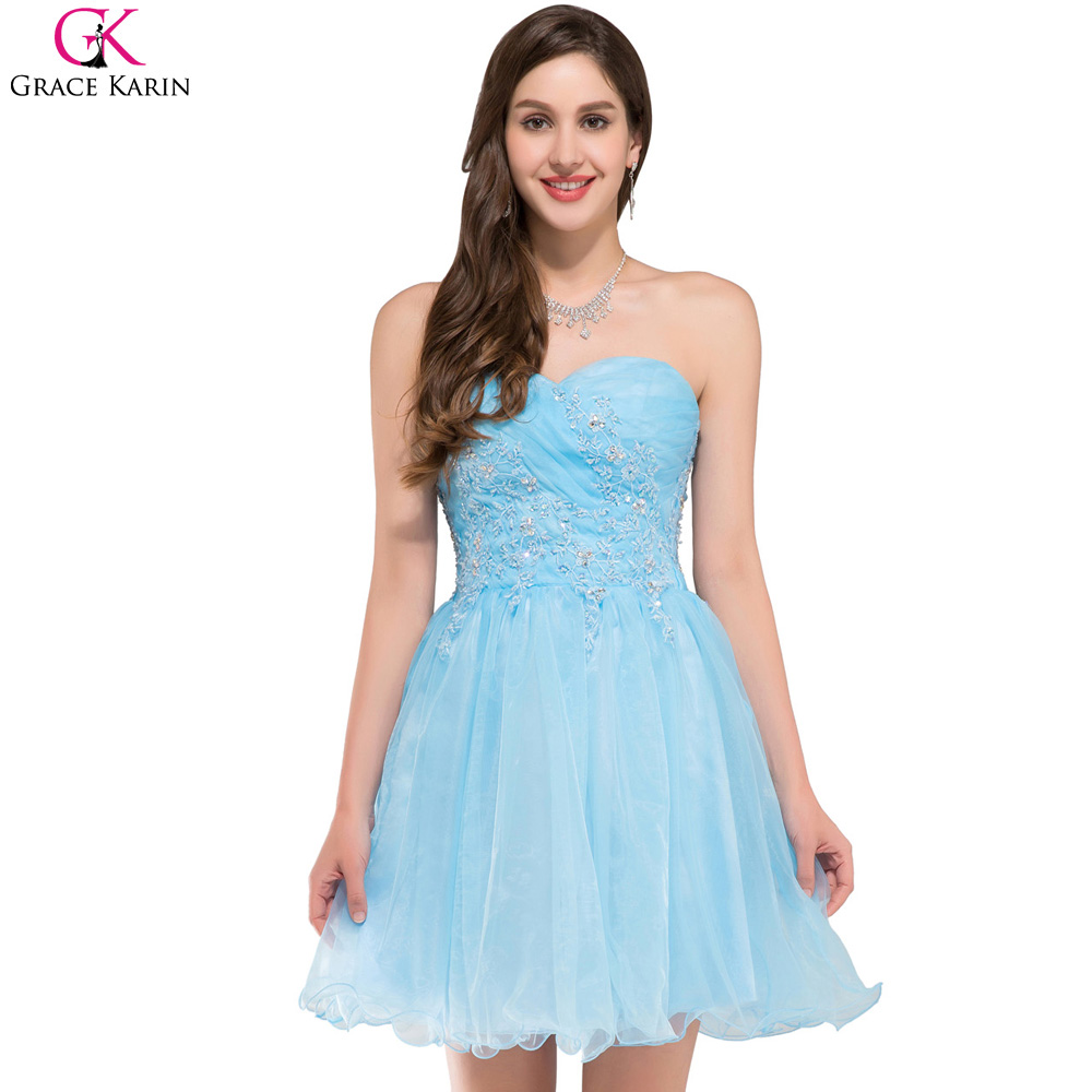 Aliexpress.com : Buy Short Prom Dresses 2017 Grace Karin Voile ...