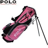 Polo حقيقي الرياضية طفل دعم كرة الغولف حقيبة 76 سنتيمتر حقيبة محمولة وخفيفة نوادي الغولف حامل حقيبة 7-8 حاوية مكافحة الاحتكاك