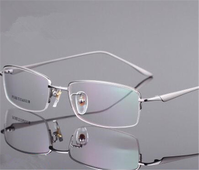 cc852d6aa9 Famous Design Glasses Light Pure Titanium Eyeglasses Men Eye Prescription  Frame