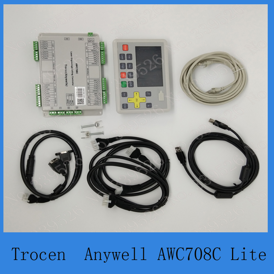 Color screent Trocen Anywells AWC708 lite Laser Engraving cutting Controller system in CNC Controller from Tools