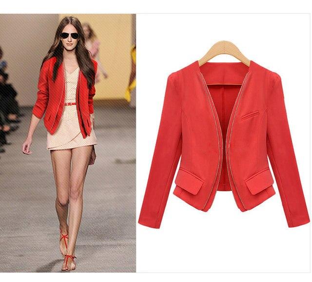 Blazer para mujer color rojo
