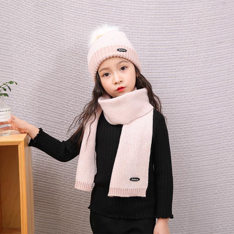 2018 New Children Kids Hat Cap Scarf Set Keep Warm Fashion Stripe Breathable For Winter 88 88 LXX9