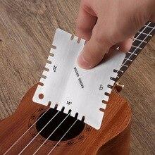 6pcs Durable Stainless Steel Guitar Saddle Nut Radius Gauge Design Fingerboard Fretboard Measuring Tool Set