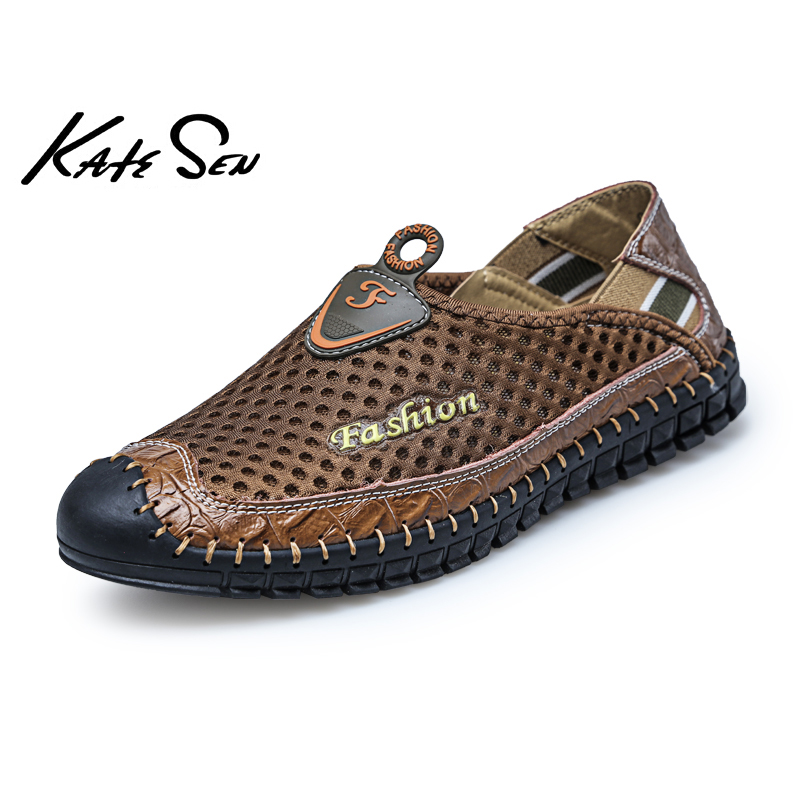 Men's Sandals Men's Shoes Strict Cow Split Leather Men Fashion Sandals Waterproof Summer Flats Rome Shoes Version Daily Breathable Feet Lazy Casual Sandals