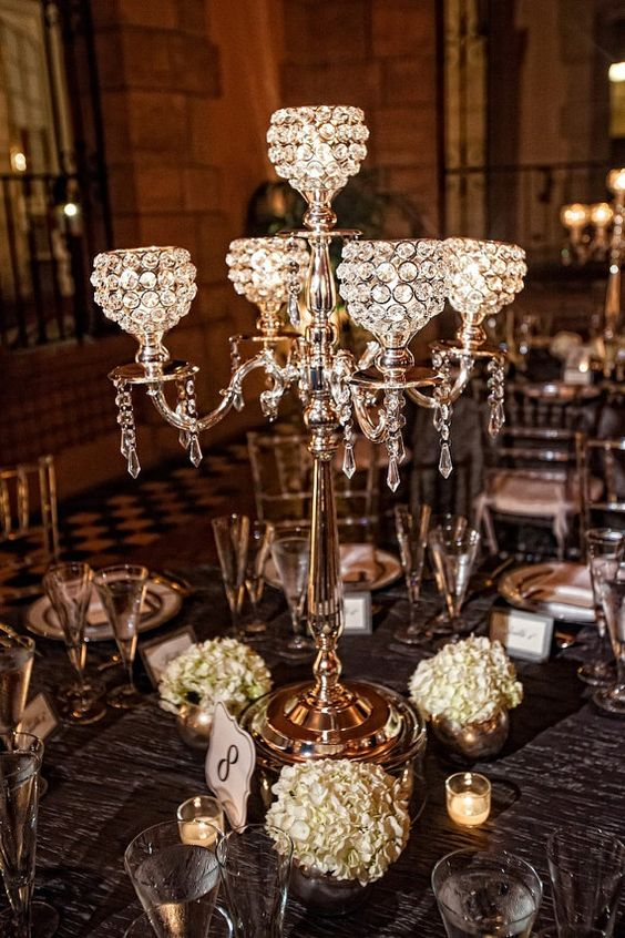 H75cm Wedding Gold Candelabra Crystal Centerpiece Banquet Table Stand 10 Pcs Lot In Candle Holders From Home Garden On Aliexpress