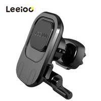 Leeioo magnético suporte do telefone do carro para o iphone samsung 360 suporte de montagem do ar ímã para o telefone móvel no carro gps universal suportes