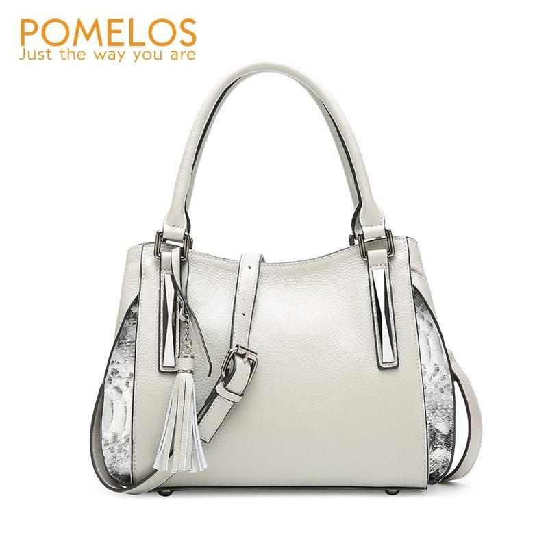 POMELOS sacs en cuir véritable pour femmes 2019 sacs à bandoulière femmes sacs à main de haute qualité sacs à bandoulière pour femmes sac à main en cuir
