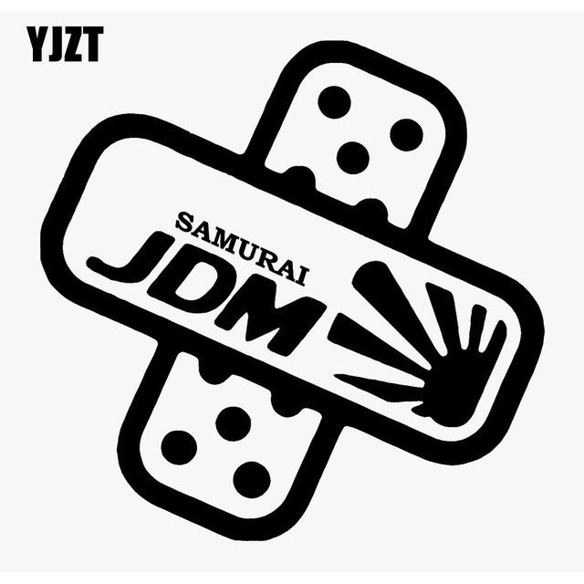Yjzt 1616cm cover dents dings funny jdm band aid decal car window sticker black
