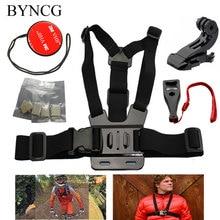 Byncg для GoPro Интимные аксессуары комплект Гора жгут нагрудный Go Pro Hero 4 3 + 3 2 1 Xiaomi Yi камера Black Edition