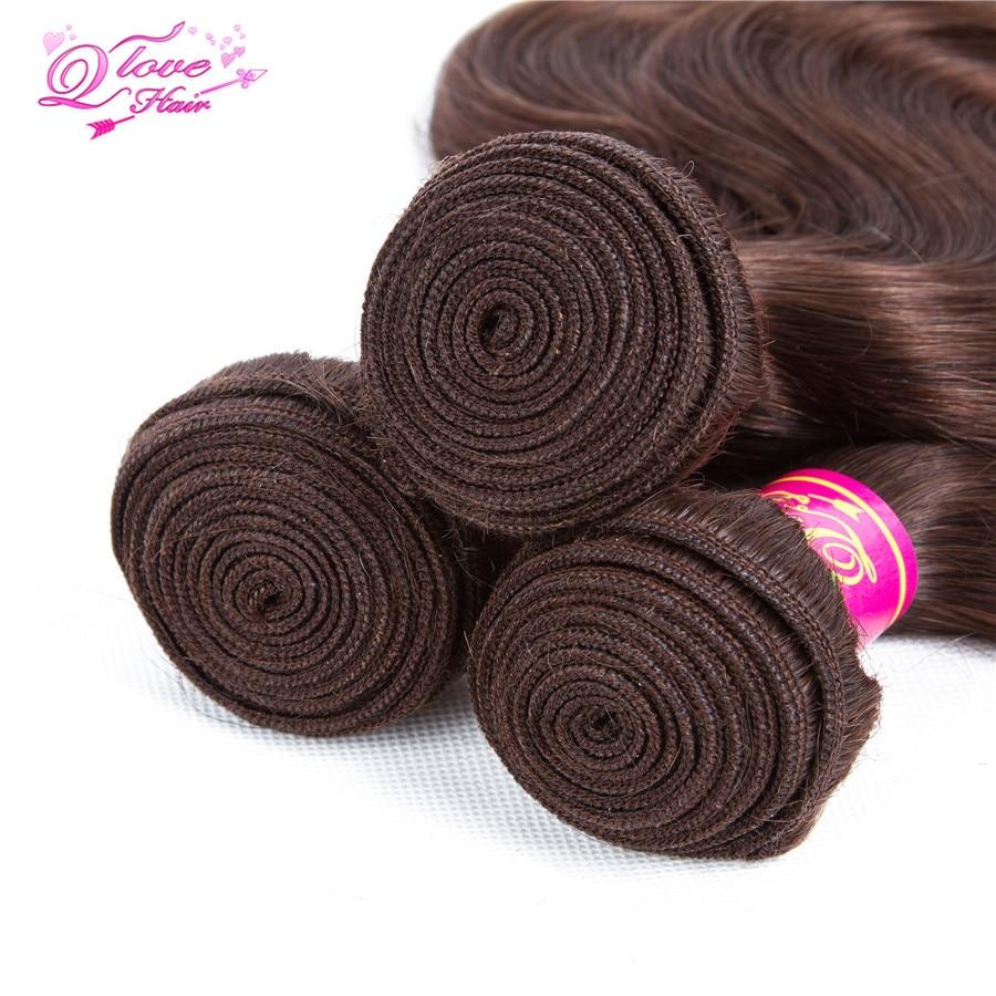 Queen Love Hair Pre-Colored Mongolian Body Wave 3 Bundles 10-26 inch 100% Human Hair 3 Bundles Non Remy #4 Free Shippin