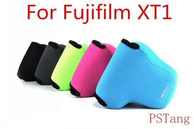 Hot Sale! Neoprene Soft Inner Triangle Camera Protect Case Bag for FUJIFILM Fuji X-T1 XT1 with 18-55mm Lens