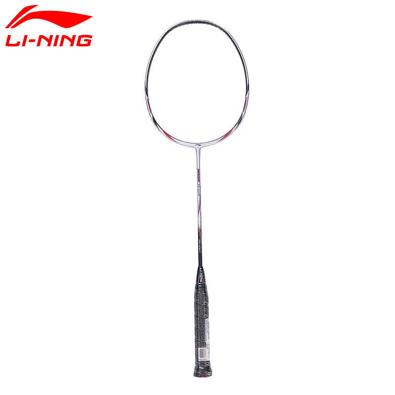 Li-Ning UC9000 Badminton Rackets Sliver Offensive and Defensive Carbon Fiber LiNing Rackets AYPJ112 ZYF161 li ning u sonic 17 badminton rackets single carbon fiber professional lining rackets aypm226 zyf214