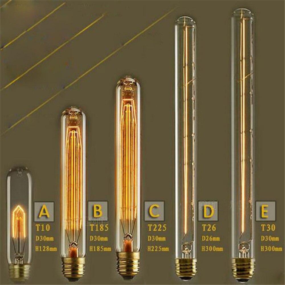 220V 240V T10 T185 T225 T300 Vintage Edison Bulb E27 Retro Incandescent Light bulbs For Living Room Bedroom Dinning Room lamp