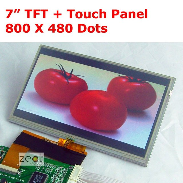 """7.0"""" 7 inch TFT LCD Module + Touch Panel High Resolution 800 x 480 Dots 40Pins free shipping+tracking"""