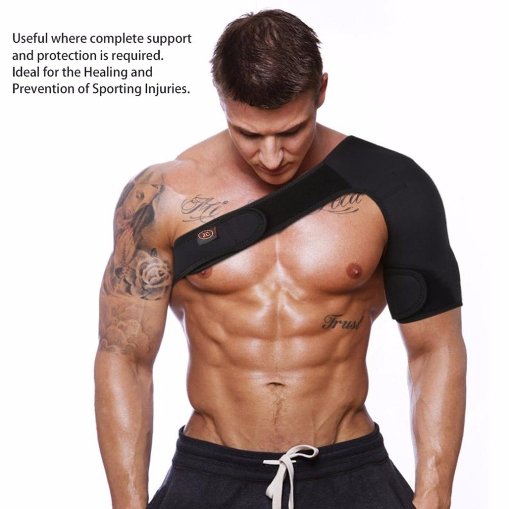 Adjustable Shoulder Support Back Brace Guard Strap Wrap Belt Band Pads Men Women Breathable Sports Arthritis Pain Gym Protector
