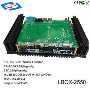 Image 5 - Le plus récent PC industriel à bord dintel Atom D2550 CPU avec XP/Win7/Win8/Win10/Linux prend en charge le Mini PC WiFi/3G/4G/LTE