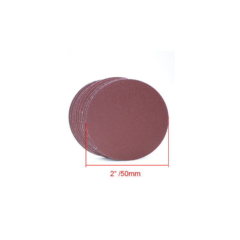 Free Shipping 100PCS 2 Inches Round Sandpaper Disck 40-7000 Grits Polishing Sheet 50MM