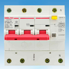Miniature Circuit Breaker Air Switch DZ47LE-125 3P+N  DELIXI MCB 3Pole +N D Curvers 63A-125A 63A 80A 100A 125A