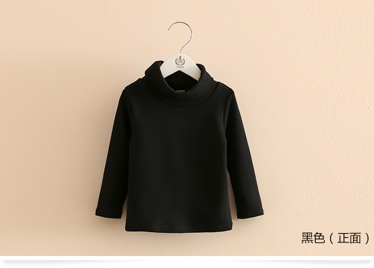 2018 Spring Autumn 2-10T Years Children'S Candy Color Sweet Long Sleeve High Neck Unisex Kids Girl Boy Basic Turtleneck T-Shirt (15)