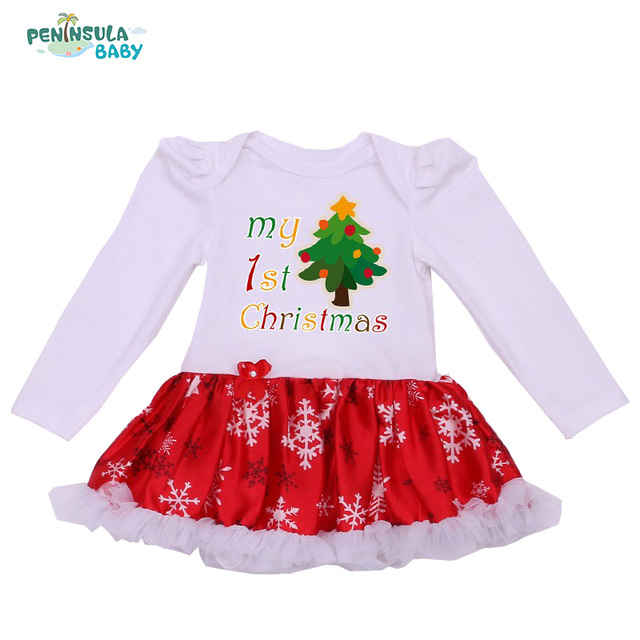 newborn christmas baby tutu bodysuits my first christmas outfits baby girls jumpsuit new born infant clothing