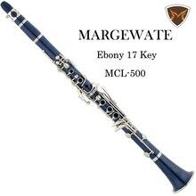 MARGEWATE Blue 17 Key Bb Clarinet Klarnet Drop B Tuning Buffet Klarnet Clarinet Silver Plated Woodwind Instruments Clarinete