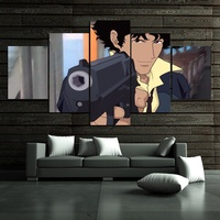 Canvas Wall Art Pictures Home Decor Room Poster 5 Pieces Cowboy Bebop Anime Printed Painting