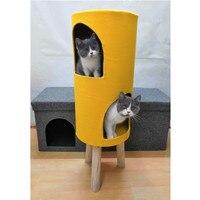 Котенок кошка плюшевая игрушка «Кот» дом для кошек дерево восхождение Домашние животные товары восхождение дом игрушка новые продукты 2018 к