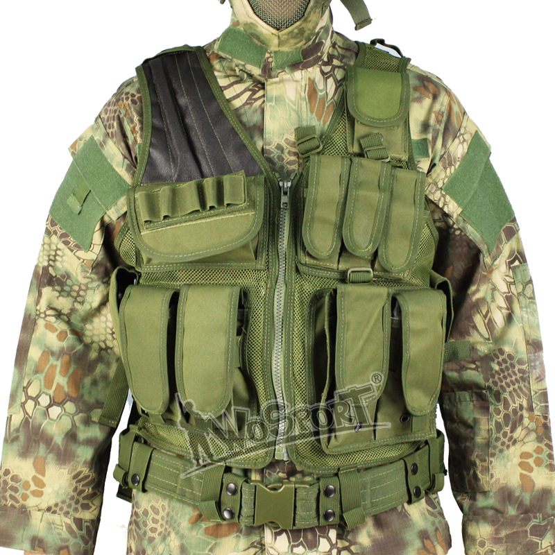 Tactical Airsoft Functional Fishing Vests Protective Safety Hunting Combat Vests Outdoor Training Mesh Waistcoat Fishing Vests
